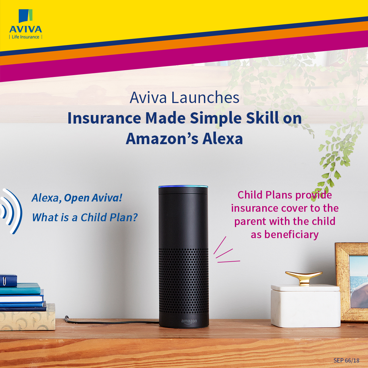 Aviva is now on Alexa with - Insurance Made Simple skill! Let's make insurance easier than ever!